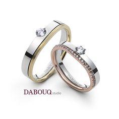 Dabouq Studio Couple Ring - DR0004 - Simple+