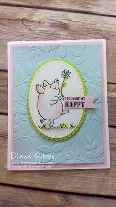 This Little Piggy Diana Gibbs Stampin' Up! Make n Take for downline virtual meeting