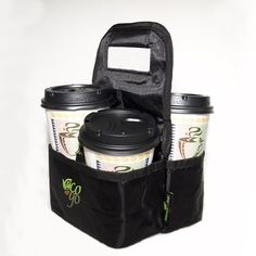 Reusable Takeout Coffee Tote!