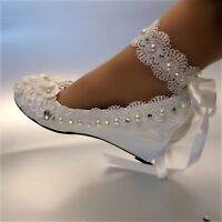 cheny Flats two types lace ribbon ankle pumps Wedding Bridal pump heels shoes Ballet Wedding Shoes, Satin Wedding Shoes, Bridal Flats, Bridal Wedding Shoes, Best Bridal Shoes, Rhinestone Wedding, Cinderella Wedding Shoes, White Bridal Shoes, Crystal Wedding