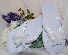 White Flower and Pearl Beaded Designer Bridal Flip by JustImagine1, $40.00