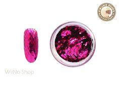 2 x 3mm Hot Pink Diamond Shape Glitter / Nail Art Craft (DM03)
