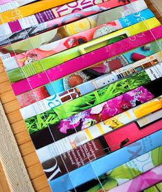 the pink couch: Magazine Placemats, tutorial
