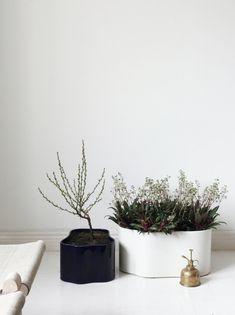 Maison&Objet 2018 Best Choice Rijhitie Plant Pots by Artek, design Aino Aalto.Originally designed in these iconic vases in light-grey and dark-brown are still extremely current. Alvar Aalto, Helsinki, Marble Columns, Garden Solutions, Paris Design, World's Fair, Organic Shapes, Tea Light Holder, Black Glass