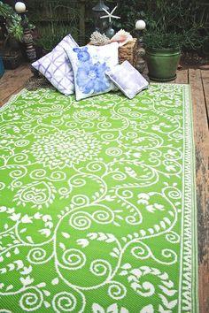 Murano Reversible Indoor/Outdoor Rug - Lime Green/Cream by Fab Habitat on @HauteLook