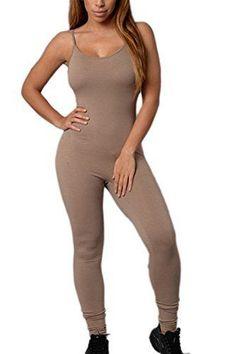 Yacun Women's Elastic Sport Tight Slip Yoga Jumpsuits