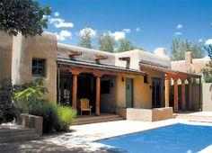 Pueblo style home near Taos New Mexico.