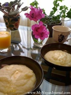 Yet another easy, yummy, affordable vegan breakfast! Grits! #MyVeganJournal