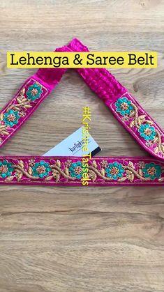 Golden Blouse Designs, Simple Blouse Designs, Stylish Blouse Design, Simple Designs, Saree Tassels Designs, Saree Kuchu Designs, Pattu Saree Blouse Designs, Saree With Belt, Saree Belt