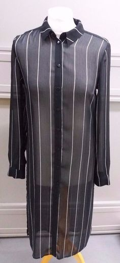 Marks and Spencer Ladies Navy Blue Pinstripe Shirt Dress Size 8 Cardigans, Sweaters, Shirtdress, Wetsuit, Evening Dresses, Navy Blue, Lady, Swimwear, Shirts
