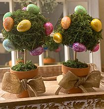 Looking for a fun and affordable décor craft for Easter? Try making these DIY Easter egg topiaries for just a few dollars using supplies from Dollar Tree! Easter Tree Decorations, Spring Decorations, Easy Easter Crafts, Easter Ideas, Egg Tree, Dollar Tree Crafts, Spring Crafts, Holiday Crafts, Topiaries