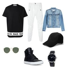 """outfit"" by alira291003 ❤ liked on Polyvore featuring Givenchy, Dsquared2, Ray-Ban, rag & bone, AMI, Supra, Frédérique Constant, men's fashion and menswear"
