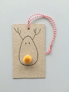 Xmas Raindeer Gift Tag // Christmas gift wrapping // DIY