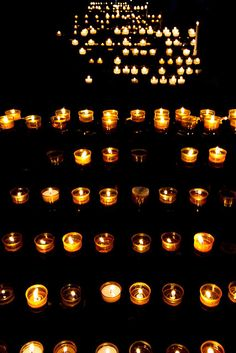Prayer Candles in Strasbourg Cathedral, Strasbourg, France