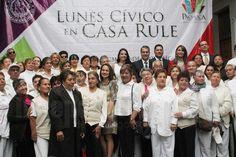 Conmemoran Día del Adulto Mayor en Lunes Cívico