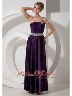 Beaded Decorate Waist One Shoulder Empire Purple Elastic Woven Satin Prom Dress Beaded Decorate Shoulder  www.fashionos.com  This empire-style dress features an one-shoulder-style bodice showing the luxurious statement and intricately beaded rows of embellishments on the strap and the starting area of the strap. A beaded stunning waistband deocrates the dress with tessels adds the charming look. Natural floor-length flowy skirt makes you look graceful and definitely be attractive.