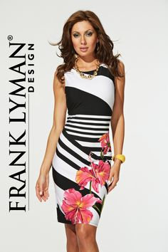Style 31616 from Frank Lyman Design, another 'hot style' black and white with pink lilies, stunning head turning dress.