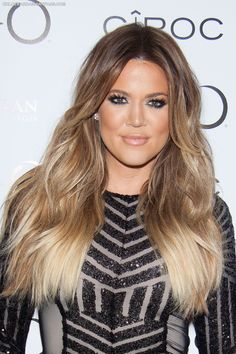 Khloe Kardashian Ombre Hair - 30th Birthday at Tao Las Vegas