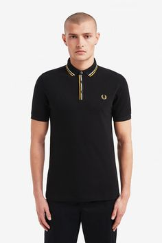 Fred Perry Tipped Placket Polo Shirt- Black (Fred Perry). Our classic polo shirt- made in cotton piqué in our regular fit. Trimmed with twin tipping at the placket with concealed buttons. Fred Perry, Celebrity Closets, Celebrity Style, Ben Sherman, Punk Shop, Tennis Fashion, Nike Outfits, Donna Karan, American Eagle Outfitters