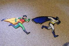 Batman and Robin perler bead sprite by allaurarayne on deviantart