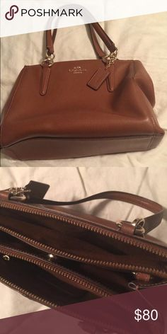 Brown leather Coach bag Never used, great condition! Coach Bags