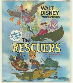 PHOTOS OF DISNEYS MOVIE POSTERS | Rescuers, The movie posters at MovieGoods.com