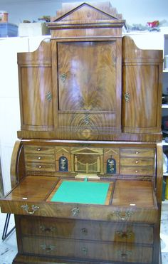my job, after completing renovations in Biedermeier style sideboard, mahogany...