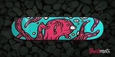 Creative Skateboard, Board, and 9 image ideas & inspiration on Designspiration Skateboard Design, Skateboard Decks, Shape Design, Logo Design, Graphic Design, Alex Pardee, E Skate, Cool Skateboards, Man