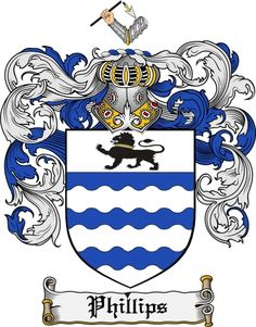 Phillips Coat of Arms Phillips Family Crest Instant Download - for ...