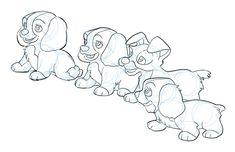 Lady and the Tramp puppies by PhillieCheesie.deviantart.com on @DeviantArt