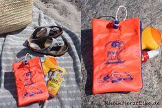 ... sollte die DIY Idee etwas mit unseren Erinnerungen aus Kindertagen zu tun haben - Taschen aus Schwimmflügel mussten her!