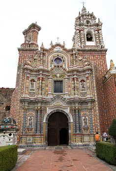 Church of San Francisco . Cholula Mexico