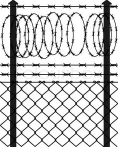 Barbed Wire Fence, Black, Hand Painted, Barbed Wire PNG