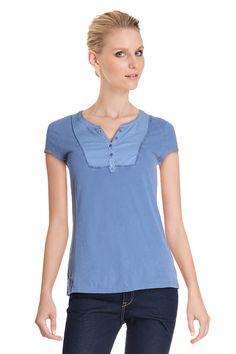 Vente Somewhere / 11982 / Tops / Tops Manches Courtes / T-Shirt Bleuet Délavé