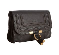 Chloe black calfskin 'Marcie' cosmetic case | A great design for a fanny pack... just add a strap.