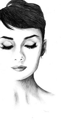 Audrey Hepburn – About Face Makeup Audrey Hepburn Zeichnung, Audrey Hepburn Kunst, Audrey Hepburn Tattoo, Audrey Hepburn Drawing, Audrey Hepburn Hair, Audrey Hepburn Photos, Audrey Hepburn Illustration, Audrey Hepburn Wallpaper, Pencil Portrait