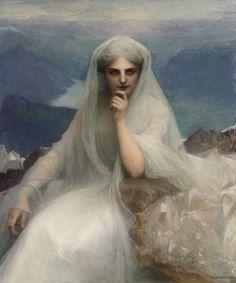 """Pascal-Adolphe-Jean Dagnan-Bouveret (Pascal Adolphe Jean Dagnan Bouveret) (1852-1929)  Sur le Cimes  Oil on canvas  -1903  105.4 x 125.4 cm  (3' 5½"""" x 4' 1.37"""")"""