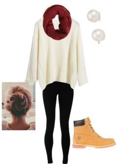 Love this outfit with timberlands//polyvore