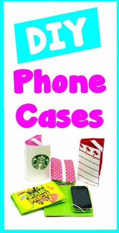 DIY Craft: 3 Easy DIY Phone Case Projects from recycled items! Here are some easy and fun ways to recycle products into DIY phone cases. In this DIY craft video tutorial learn how to make 3 different (Cool Crafts With Candy) Easy Crafts For Teens, Diy Crafts For Teen Girls, Easy Diy Crafts, Diy Crafts Videos, Diy For Teens, Diy Videos, Fun Diy, Girl Phone Cases, Diy Phone Case