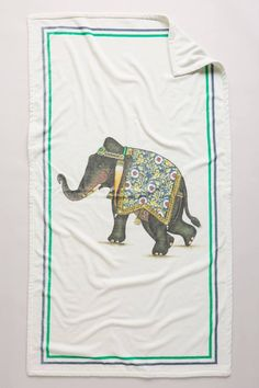 Signature Elephant Beach Towel by John Robshaw #anthrofave #anthropologie