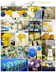 Blue and yellow inspiration board