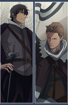 Paulo (head-canon name for Portugal) and Willem (head-canon name for Netherlands) - Art by trevo4folhas.tumblr.com
