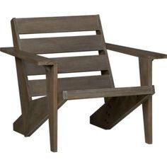 Cool, modern interpretation of ADK chair. $199. Front deck.