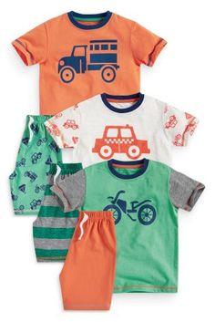 קנה מארז שלוש פיג'מות ירוקות עם מכוניות (9 חודשים-8 שנים) היום ברשת נקסט ישראל