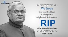 May his Soul rest in Peace . Atal Bihari Vajpayee, Rest In Peace, Acting, Self