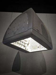 Repurposed computer monitor into a pendant light fixture by bDot.