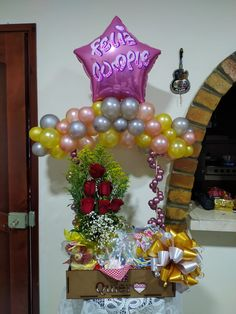 Valentines Day Baskets, Candy Bouquet, Balloon Decorations, Hamper, Centerpieces, Balloons, Gifts, Party, Vestidos