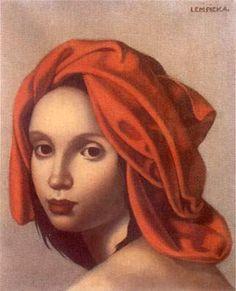 Art Deco painter Tamara de Lempicka (Polish: 1898-1980) - The Orange Turban - 1935
