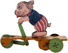 BONZO SCOOTER CHEIN WIND-UP TOY.