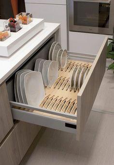 Kitchen Pantry Design, Diy Kitchen Storage, Modern Kitchen Design, Home Decor Kitchen, Interior Design Kitchen, Home Design, Kitchen Furniture, Home Kitchens, Design Blogs